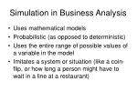 simulation in business analysis