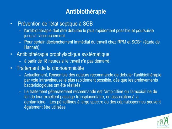 Antibiothérapie