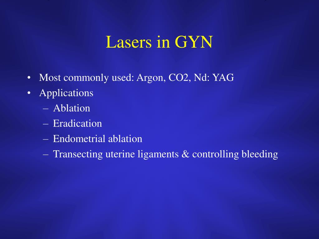 Lasers in GYN