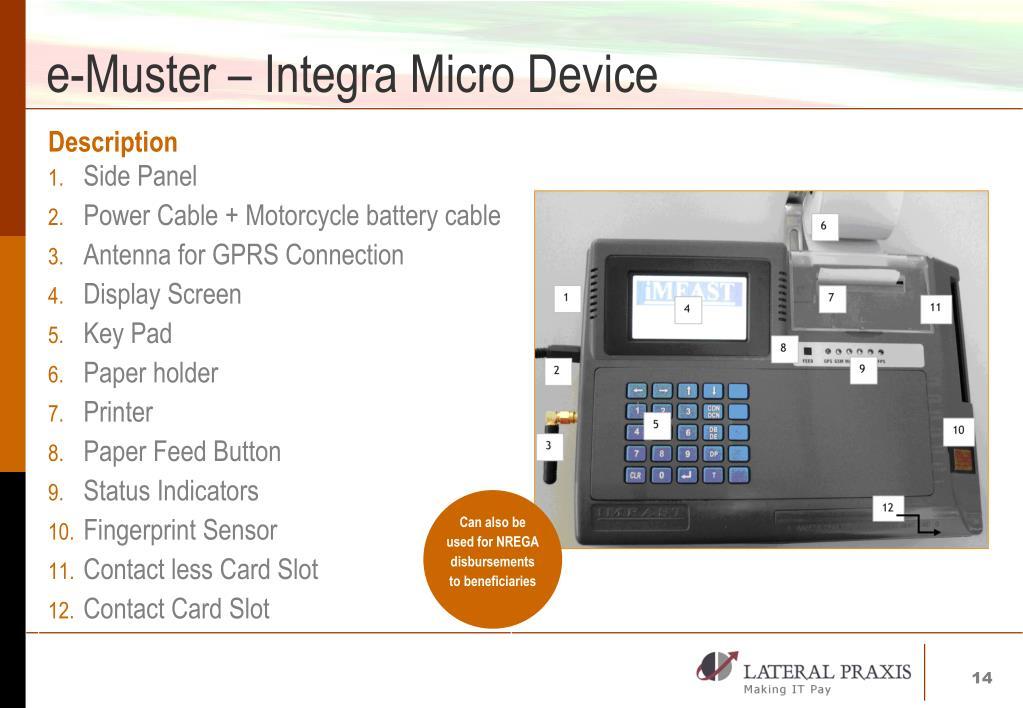 e-Muster – Integra Micro Device