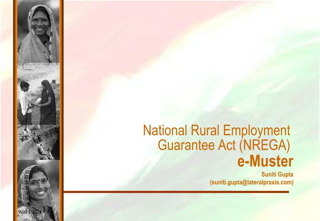 National Rural Employment Guarantee Act (NREGA)