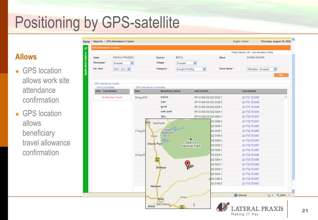 Positioning by GPS-satellite
