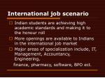 international job scenario