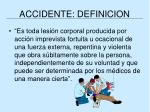 accidente definicion
