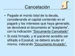 cancelaci n