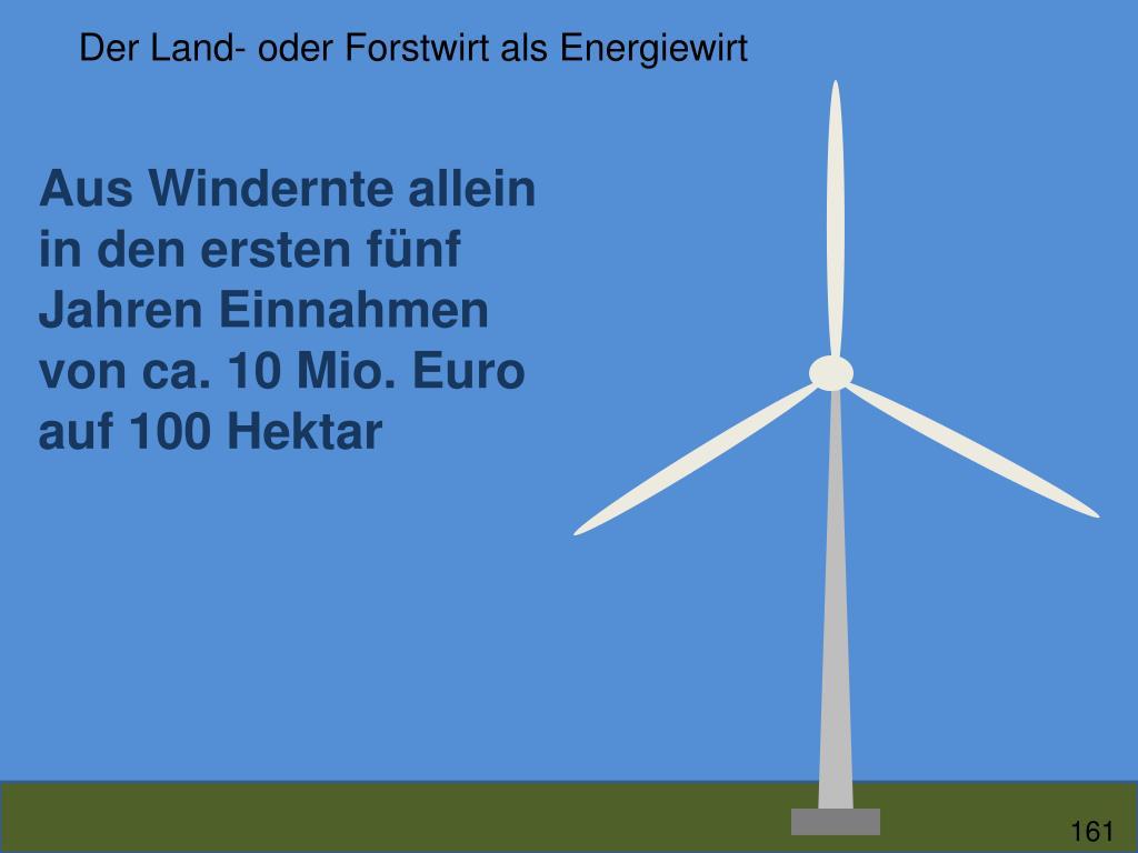 Der Land- oder Forstwirt als Energiewirt