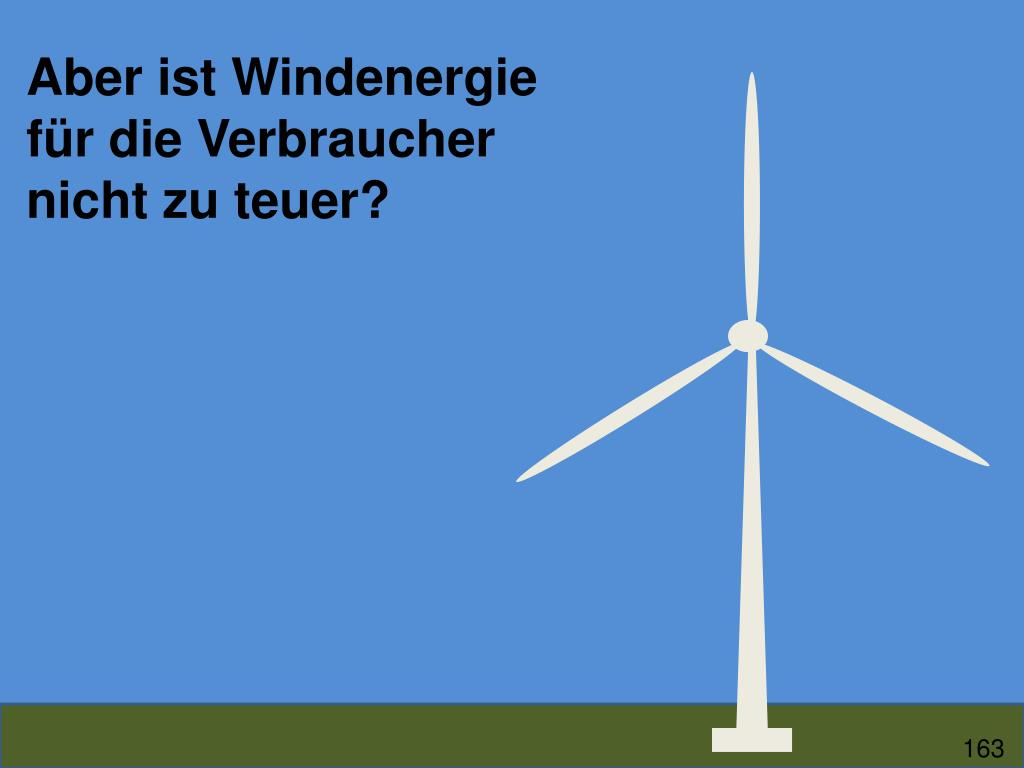 Aber ist Windenergie für die Verbraucher nicht zu teuer?