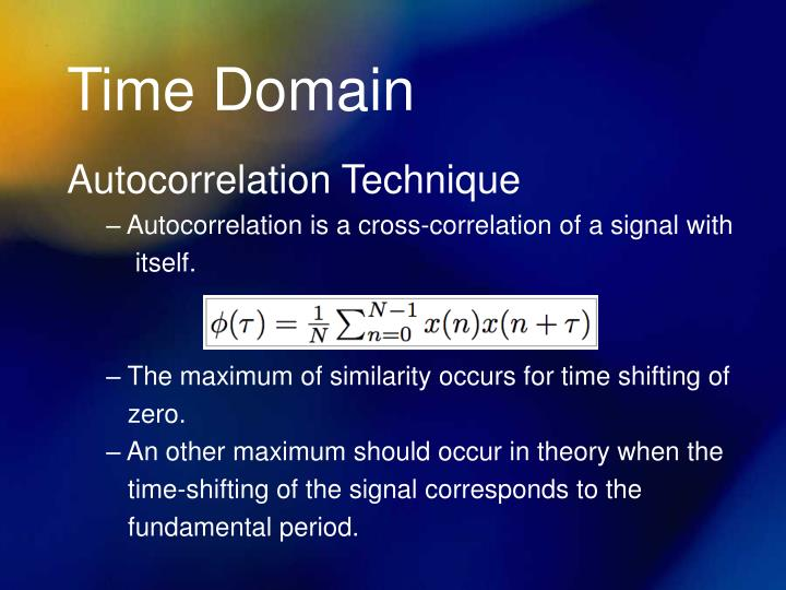 Time Domain