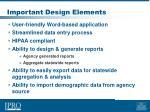 important design elements