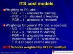 its cost models