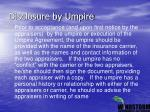 disclosure by umpire