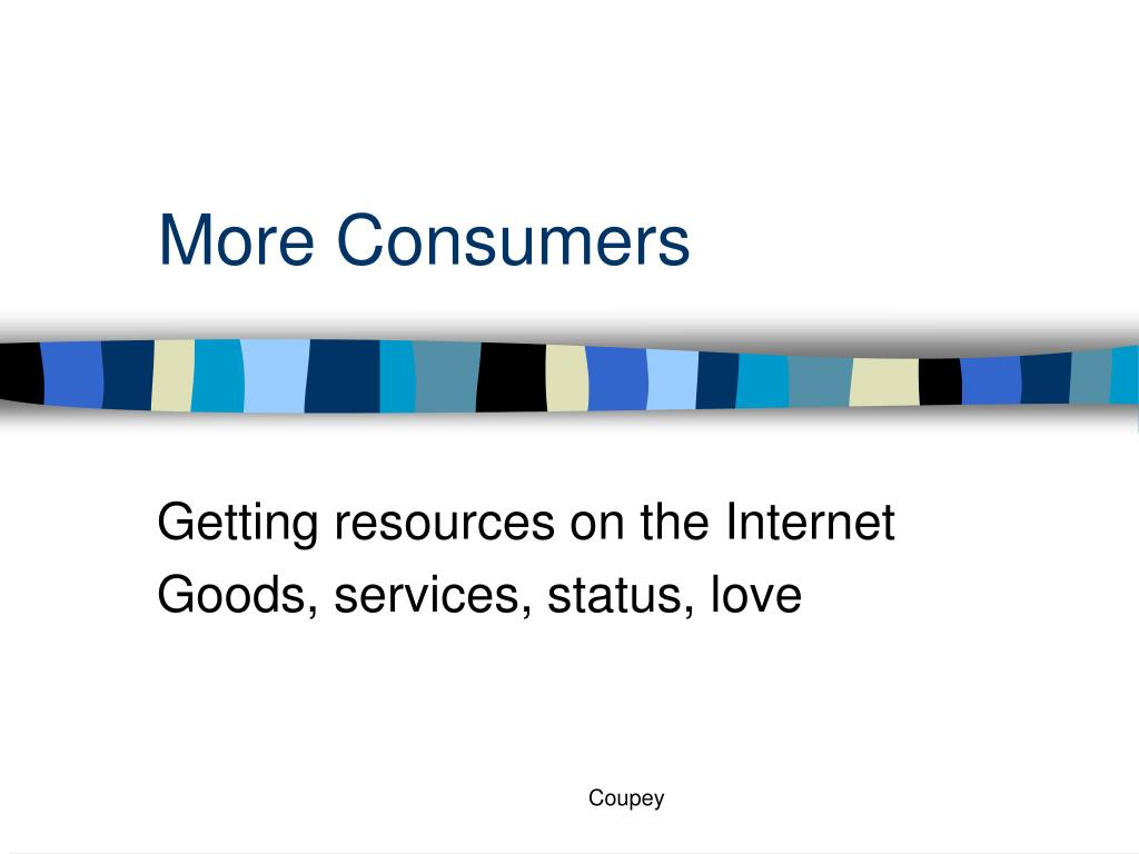 more consumers