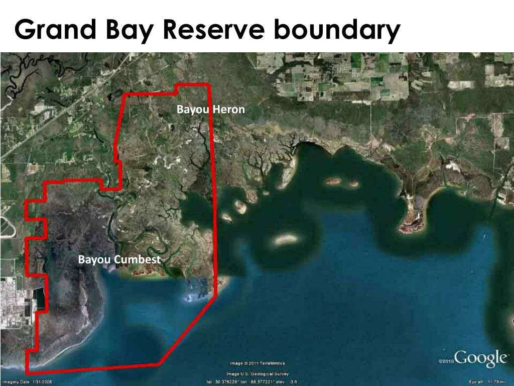 Grand Bay Reserve boundary