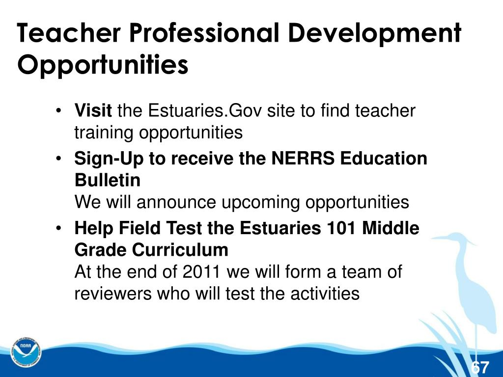Teacher Professional Development Opportunities