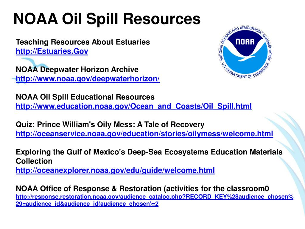 NOAA Oil Spill Resources