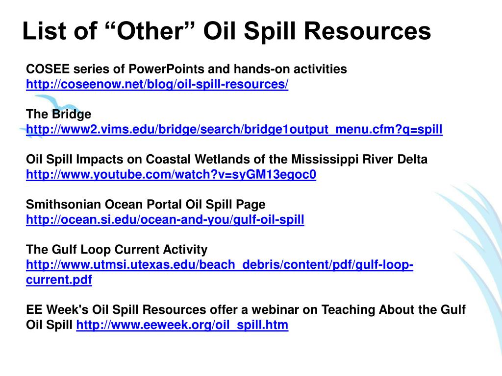 "List of ""Other"" Oil Spill Resources"