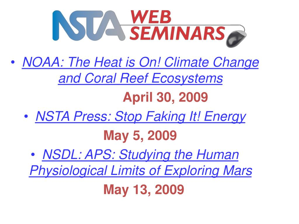 NOAA: The Heat is On! Climate Change and Coral Reef Ecosystems