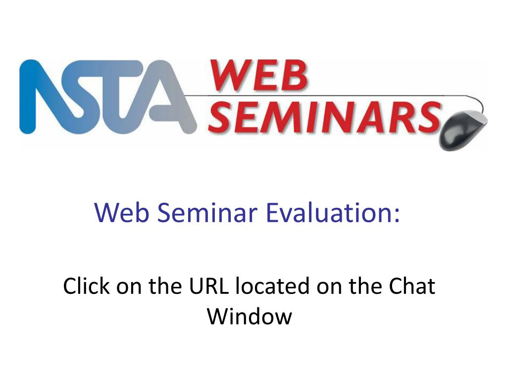 Web Seminar Evaluation: