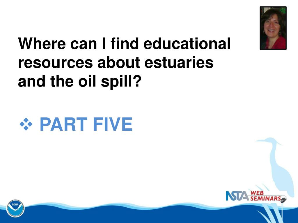 Where can I find educational resources about estuaries and the oil spill?