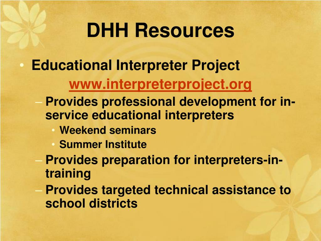 DHH Resources