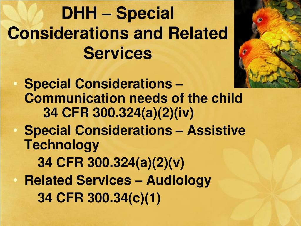 DHH – Special Considerations and Related Services
