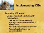 implementing idea