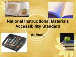 national instructional materials accessibility standard