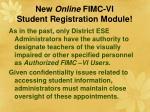 new online fimc vi student registration module44