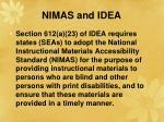 nimas and idea