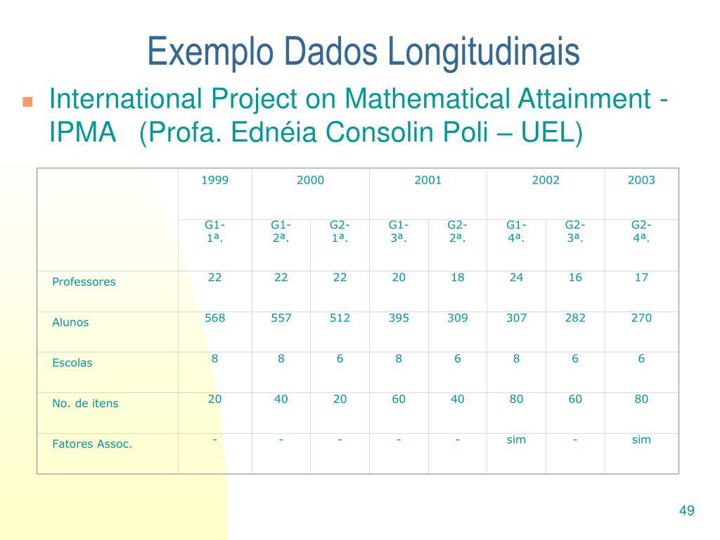 Exemplo Dados Longitudinais