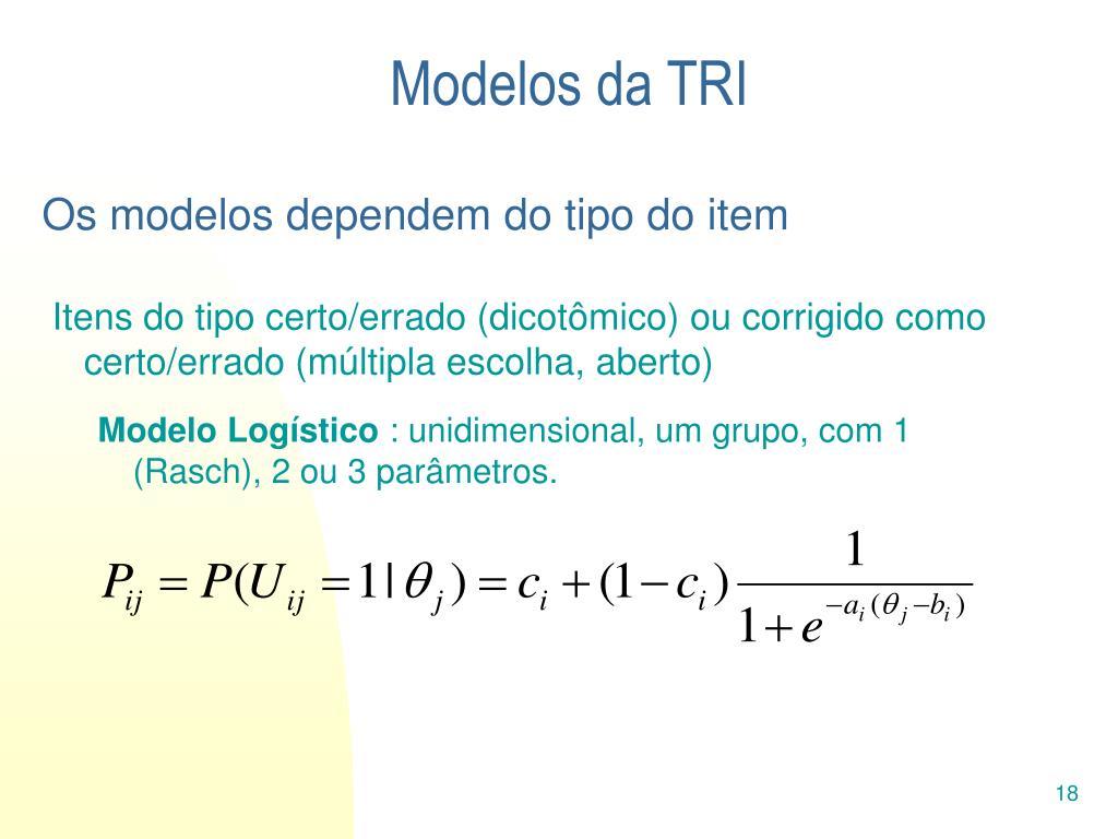 Modelos da TRI