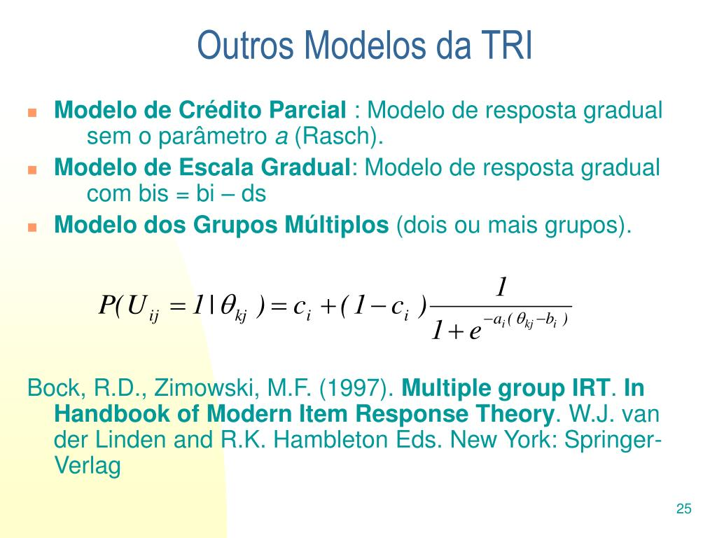 Outros Modelos da TRI