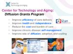 center for technology and aging diffusion grants program