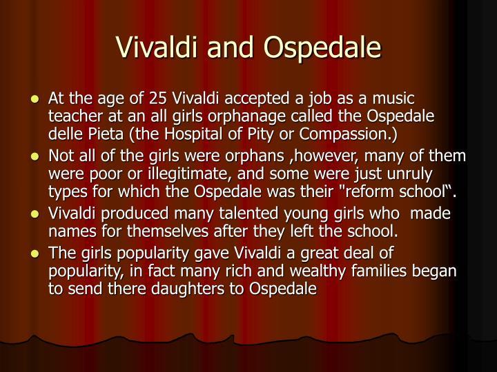 Vivaldi and Ospedale