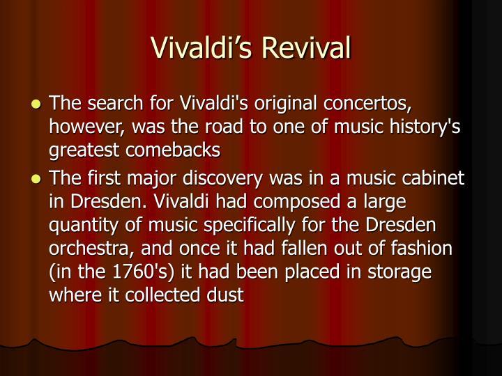 Vivaldi's Revival