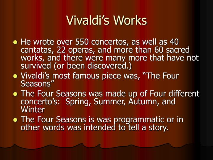 Vivaldi's Works