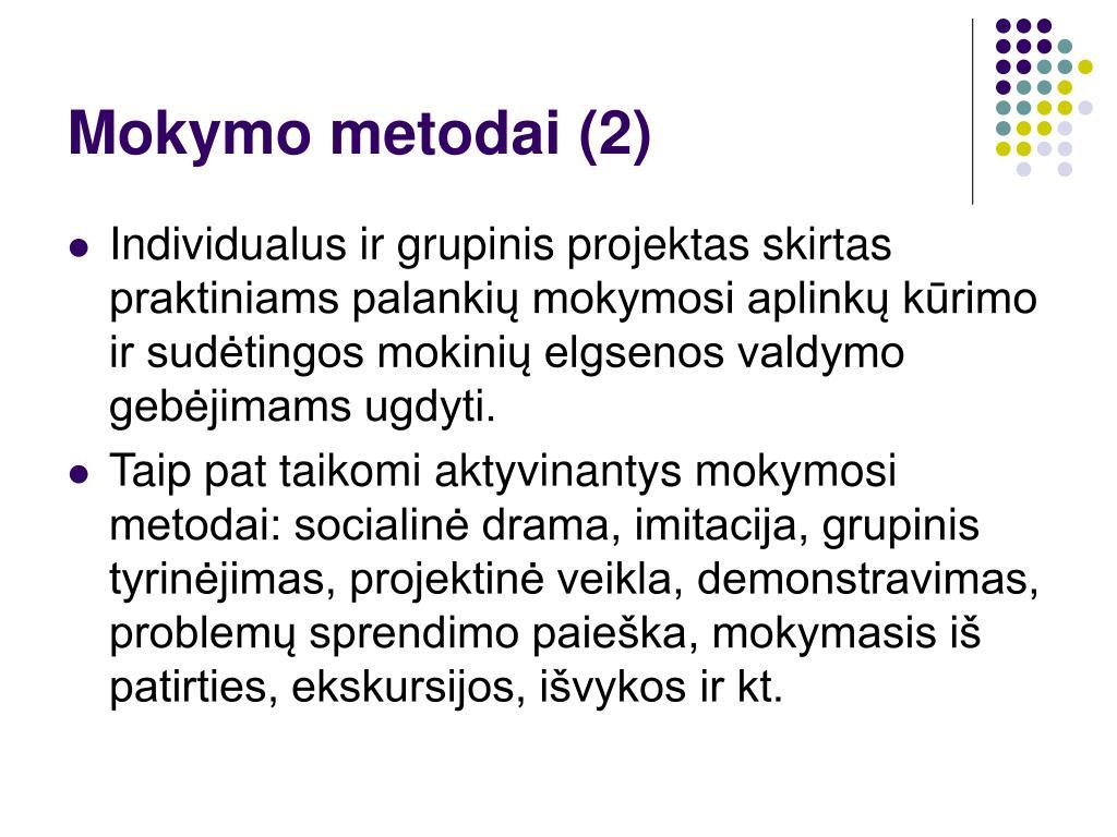 Mokymo metodai (2)