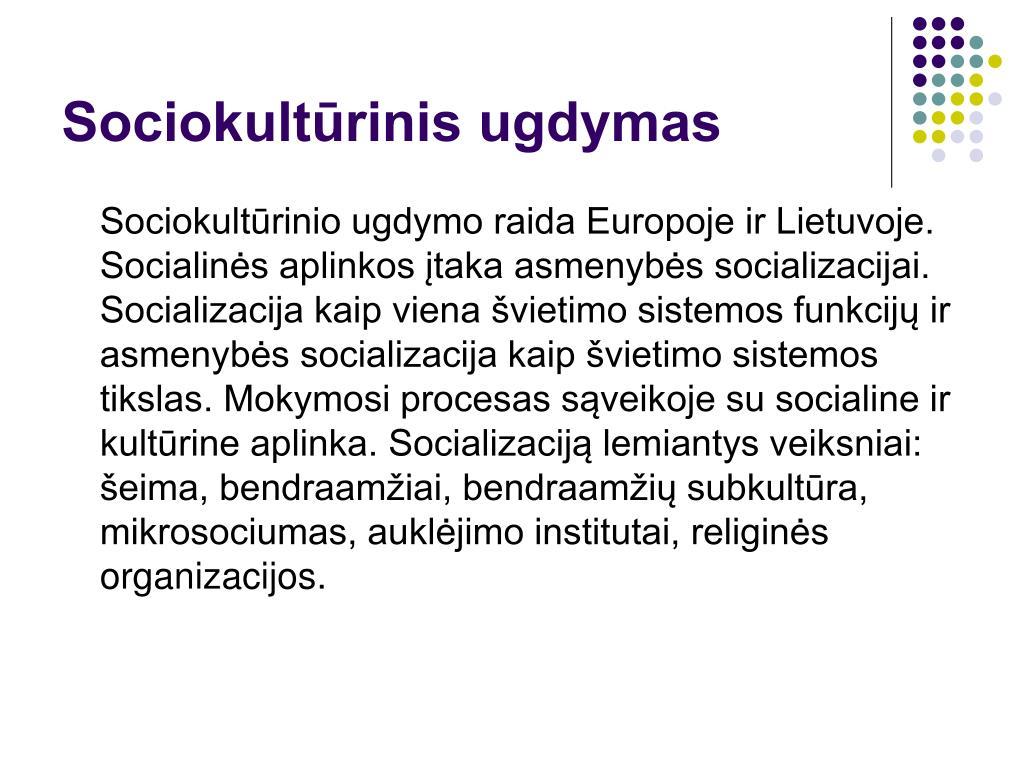 Sociokultūrinis ugdymas