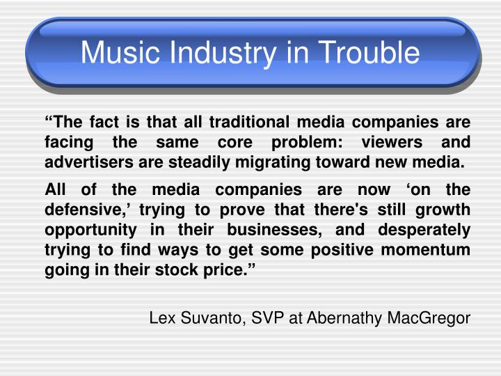 Music industry in trouble
