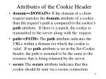 attributes of the cookie header18