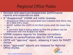 regional office roles