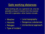 safe working distances