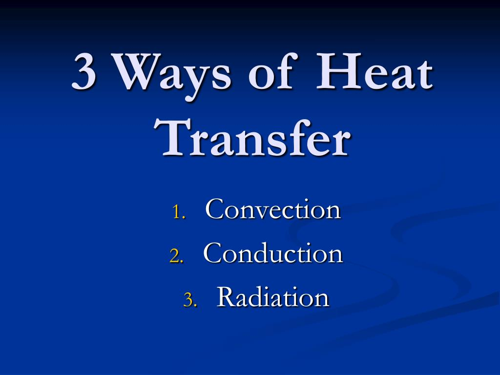 3 Ways of Heat Transfer