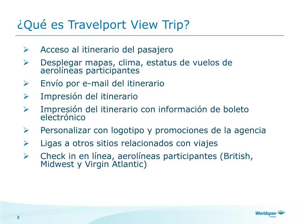 ¿Qué es Travelport