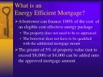 what is an energy efficient mortgage