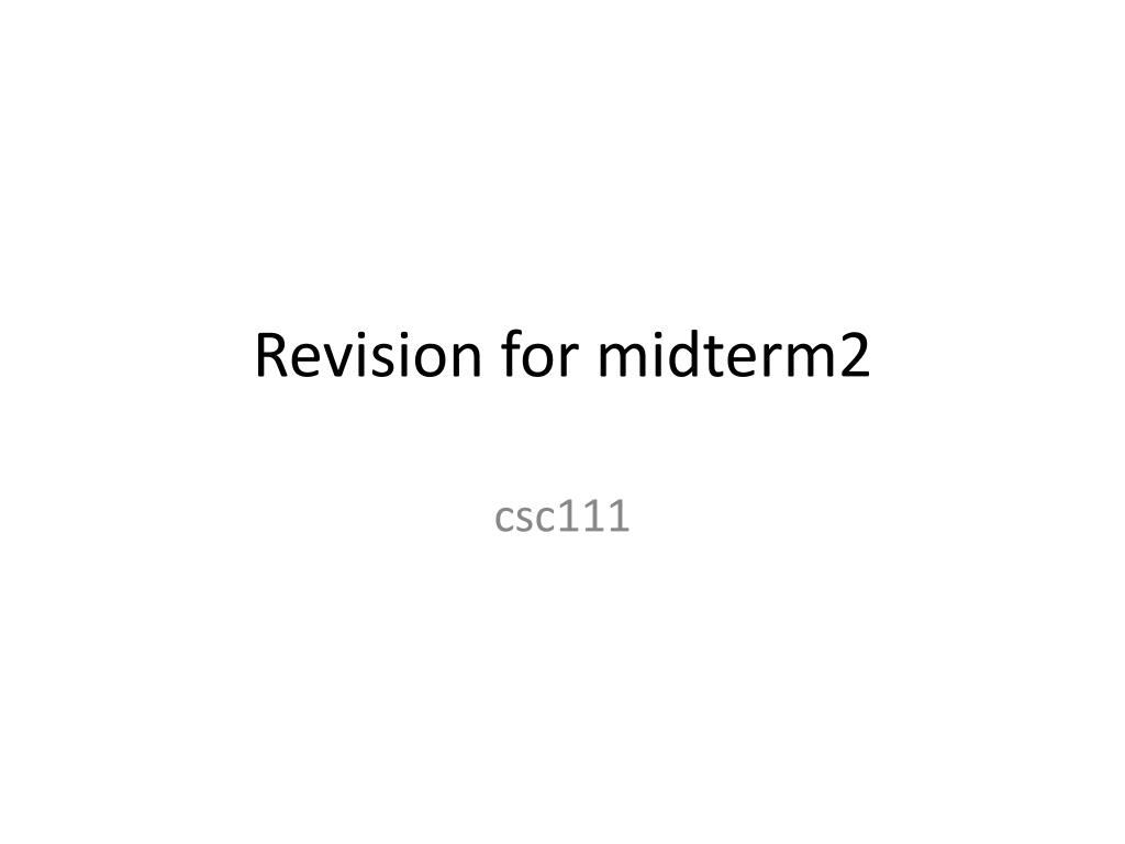 revision for midterm2