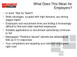 what does this mean for employers