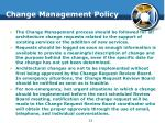 change management policy