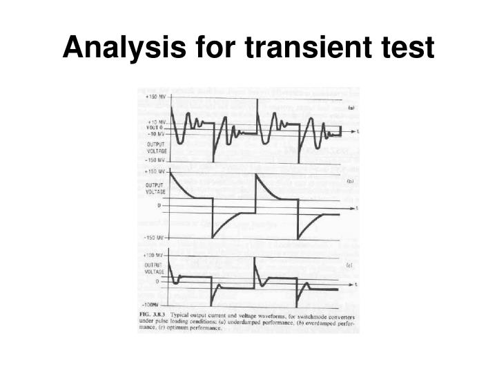 Analysis for transient test