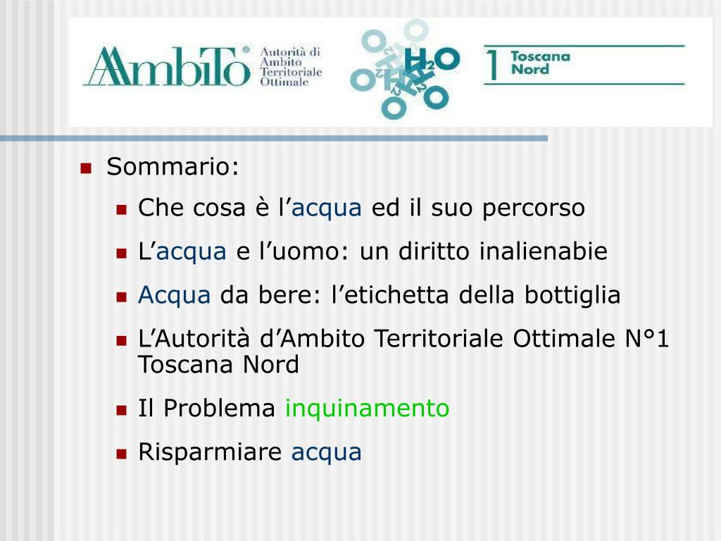 Sommario: